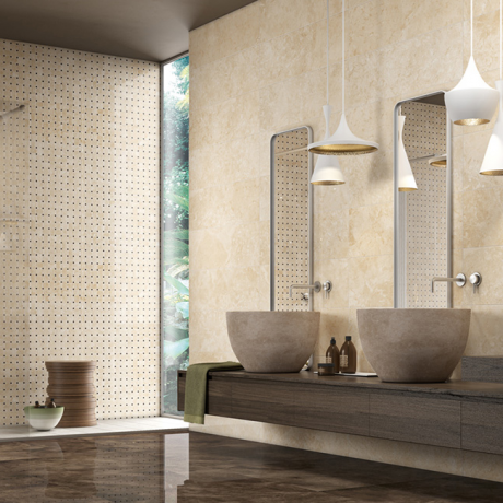 MARMOCREA BEIGE,BRONZO AMANY KRY ,IMPERO KRY.,45-90.60-60 - RETE TERRA KRY 30-30 - Από την ceramicasantagostino.it
